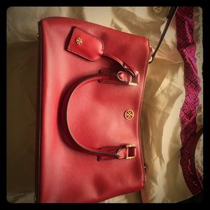 Tory Burch Red Robinson double handle, cross body